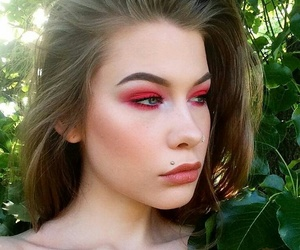 makeup and red eyeshadow image