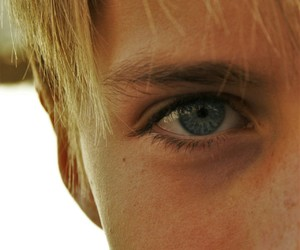 blond, blue, and eye image