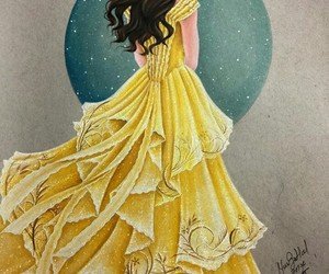 beauty and the beast, belle, and art image