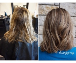 blonde, hair, and dimension image