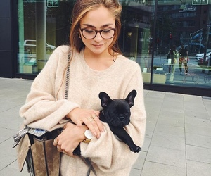 fashion, dog, and girl image