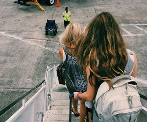 travel, airport, and friends image