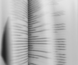black and white, blurry, and book image