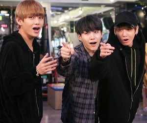 v, jungkook, and suga image