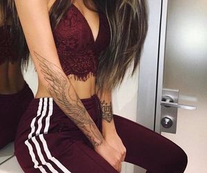 fashion, girl, and tattoo image
