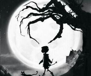 coraline, Halloween, and black image