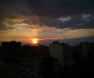 clouds, sunset, and thessaloniki image
