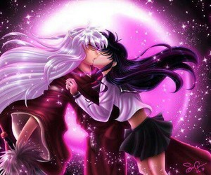 anime, inuyasha, and kiss image