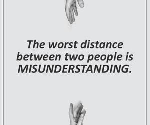 distance, misunderstanding, and people image