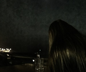 beauty, girl, and moonlight image