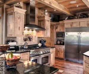 decor, interior design, and wooden kitchen image