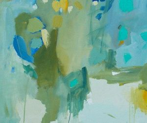Abstract Painting, blue and green, and etsy image