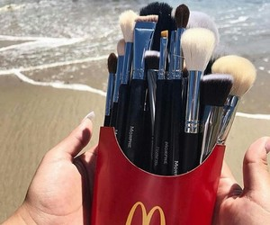 fashion, Brushes, and beach image