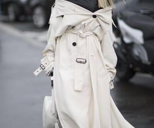 fashion, streetstyle, and trench image