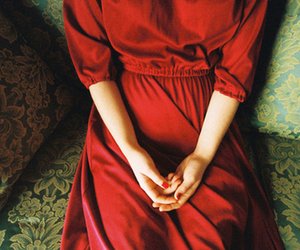 dress, red, and hands image