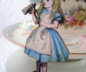 alice, alice in wonderland, and hearts image
