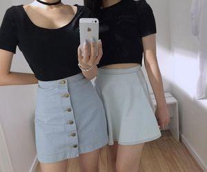 grunge, skirt, and black image