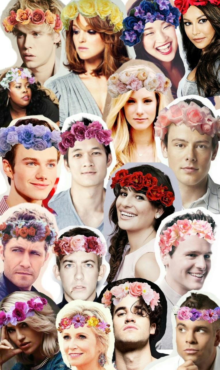 Glee Flower Crown Collage Wallpaper Original