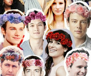 Collage, flower crown, and glee image