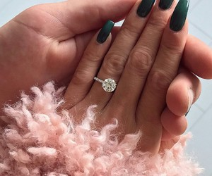nails, ring, and hair image