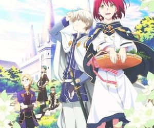 anime, akagami no shirayukihime, and shirayuki image