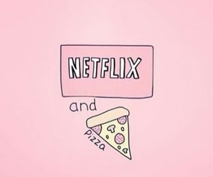 netflix, pizza, and wallpaper image