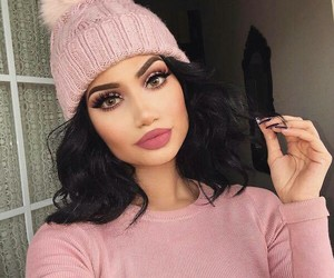hat, lovepink, and makeup image