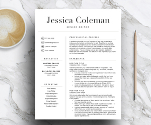 resume template, professional resume, and simple resume image