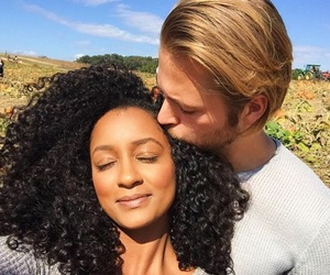 black girl, couples, and interracial image