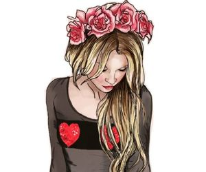 dibujo, girl, and rubia image