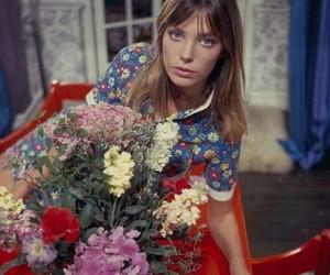 jane birkin and flowers image