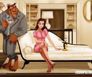 disney, belle, and sex and the city image