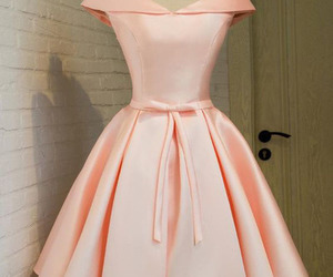 cocktail dress, pearl pink, and off the shoulder image