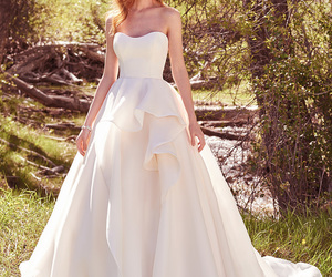 dress, white dress, and wedding dress image