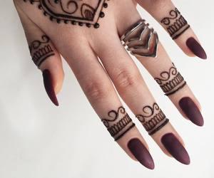 fake nails, henna, and indian image
