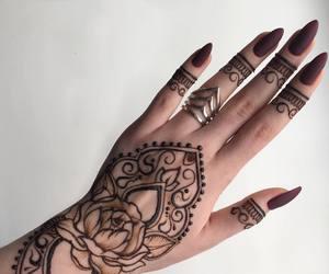fake nails, indian, and henna image
