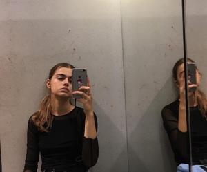 girl, grunge, and mirror image