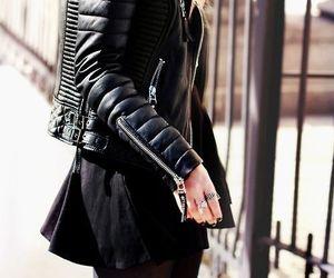 black, fashion, and leather image