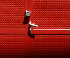 doors, red, and polytet image