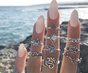 fashion, girly, and rings image