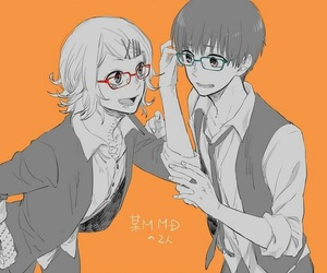 friends, kaneki ken, and glasses image