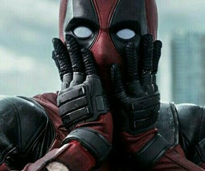 deadpool, Marvel, and red image