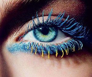 eyes, blue, and make up image