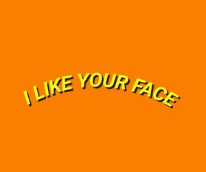 face, like, and yellow image