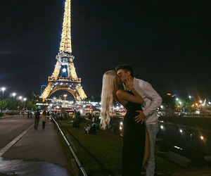 love, couple, and paris image