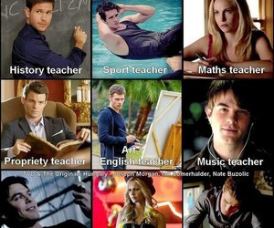 the vampire diaries, school, and klaus image