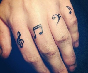 idea, music, and tattoo image