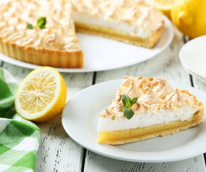 crust, lemon, and pie image