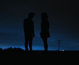 night, couple, and grunge image