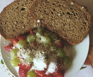 fruit, bread, and healthy image